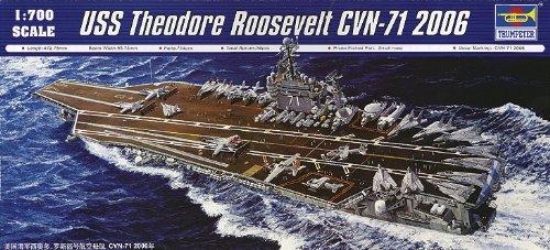 (Trumpeter 1/700 USS Theodore Roosevelt CVN71 Aircraft Carrier 2006 Model Kit)