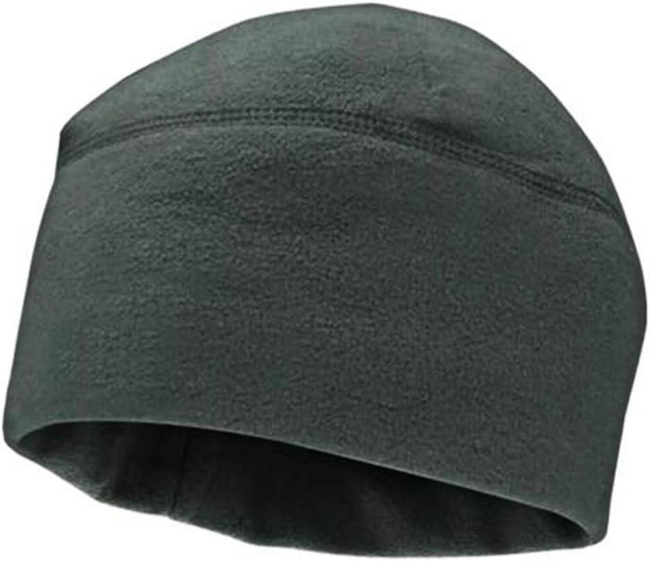 S-TROUBLE M/änner Frauen Unisex Winter Einfarbig Weiche Warme Uhr Kappe Polar Fleece Verdickt Military Army Beanie Hut Winddicht Outdoor Tough Headwear