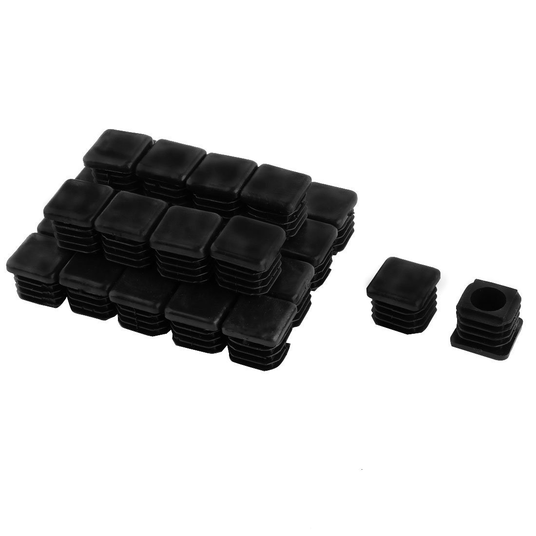 30 Pieces Black Plastic Blanking End Caps Tubing Inserts 19mm x 19mm uxcell a14082800ux0020