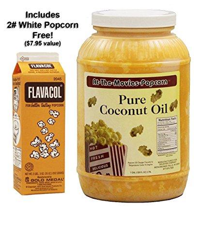 Coconut Popcorn Popping Oil (Gallon) & Flavocol Combo (Yellow Coconut Oil) (Popcorn Popping Oil compare prices)