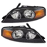 Newmar Dutch Star 2002-2005 RV Motorhome Pair (Left & Right) Replacement Front Headlights with Bulbs