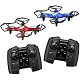 Propel RC Sky force(TM) Battling Indoor/Outdoor High-Performance Drones, Red/Black, Pack Of 2, OD-2108