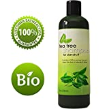 Dandruff Shampoo with Tea Tree Oil for Men and Women (8oz) - All Natural, No Sulfate Anti-dandruff Formula with Organic Essential Oils - 100% Money-back Guaranteed and USA Made By Honeydew Products