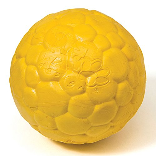 Fetch Ball Toy Dog (West Paw Zogoflex Air Boz Durable Nearly Indestructible Dog Ball Chew-Fetch-Play Dog Toy, 100% Guaranteed Tough, It Floats!, Made in USA, Large, Dandelion)