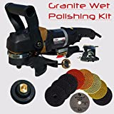 Stadea SWP102K Stone Polisher Granite Polishing Kit - Wet Variable Speed Grinder Granite Wet Polishing