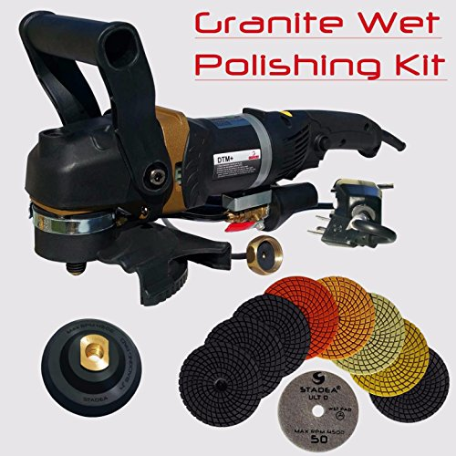 12' Diamond Head (Stadea SWP102K Stone Polisher Granite Polishing Kit - Wet Variable Speed Grinder Granite Wet Polishing)