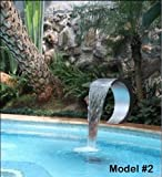 Stainless Steel Sheer Descent Waterfall Fountain