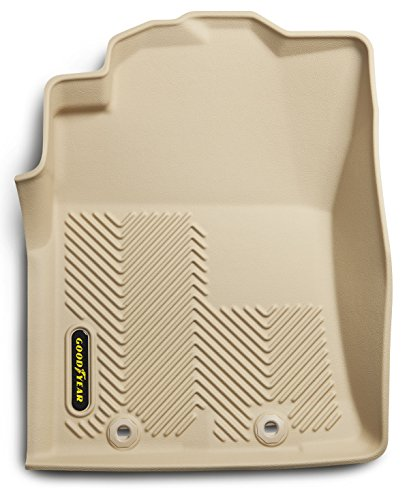 Goodyear Front Set Custom Fit Floor Liners for Select Toyota Tacoma Models - (Tan)