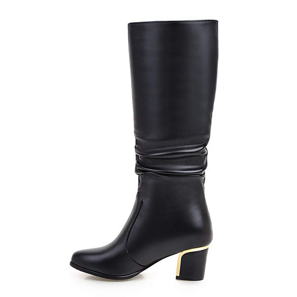 POPNINGKS Knee High Boots for Women, Ladies Fashion Comfty Shoes Knight Boots Sexy High Heel Winter Warm Snow Boots by POPNINGKS