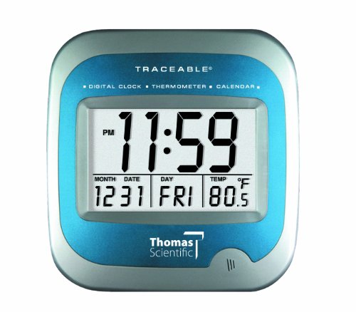 Thomas 1072 Traceable Large LCD Calendar Thermometer Clock,