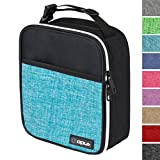 OPUX Premium Thermal Insulated Mini Lunch Bag | School Lunch Box For Boys, Girls, Kids | Soft Leakproof Liner | Compact Lunch Pail (Turquoise)