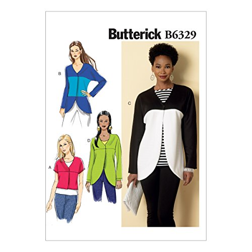 BUTTERICK PATTERNS B6329 Misses' Curved-Seam or Cropped Jackets, ZZ (Large-X-Large-XX-Large)