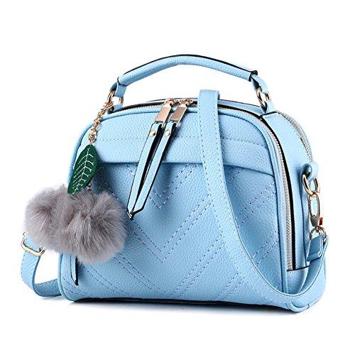 Sac à Main Pour Femmes Vintage PU Cuir Élégant Pure Couleur Sacs Bandoulière Épaule/Sacs portés épaule Noir Azur