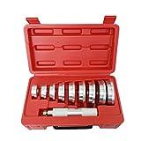 Qp-SUNROAD 10PC Aluminium Wheel Bearing Race Seal Bush Driver Set Garage Tool Kit w/Case