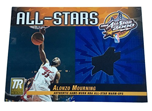 2000 Topps Reserve Game - 2000-01 Topps Reserve - Game Jerseys Alonzo Mourning Warm-Up Card Miami Heat