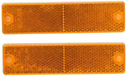 Grote 40133-5 Yellow Mini Stick-On / Screw-Mount Rectangular Reflectors