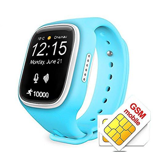 Smartwatch KINGEAR Children Anti lost Tracker Blue