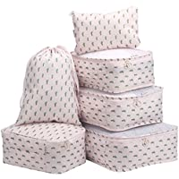 6-Piece Langria Packing Cubes Organizers (Pink)