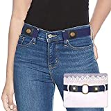 No Buckle Belt Ladies Elastic Belt for Women Men Blue Invisible Adjustable Stretch Waist Belt Jeans Belt