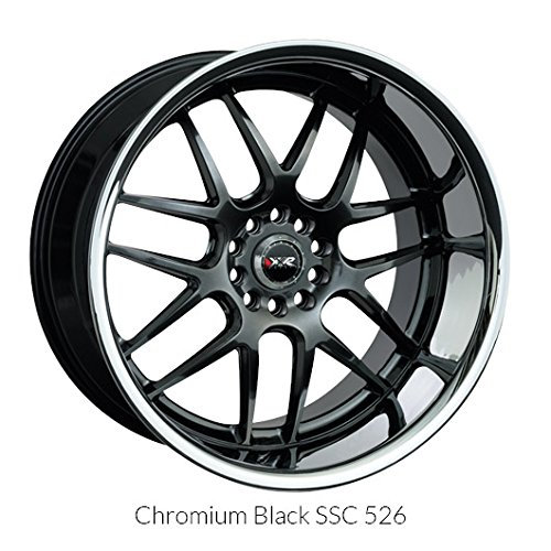 XXR Wheels 526 Chromium Black Wheel with Painted Finish and SS Chrome Lip (17x10