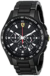 Ferrari Men\'s 0830046 Scuderia Analog Display Quartz Black Watch