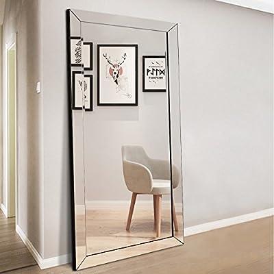 Assemer Full Length Floor Mirror Large Framed Mirror for Bedroom Bathroom