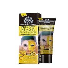 Expxon nueva máscara facial de colágeno de oro de alta humedad anti envejecimiento eliminar las arrugas de cuidado hidratante, mejora la tez general, antioxidante, aligeramiento de la piel y anti-envejecimiento