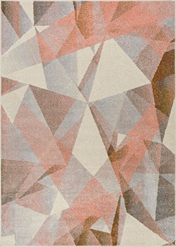 Well Woven Barra Blush Pink Multi-Color Modern Geometric Triangle Pattern Abstract 3x5 (3'3