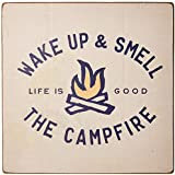 Life is Good Large Wooden Sign Smell the Campfire, BONE, One Size