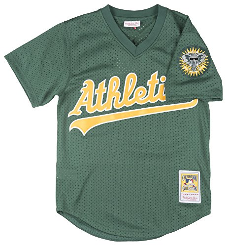 Rickey Henderson Oakland Athletics MLB Mitchell &Ness Men's Green 1998 Authentic Throwback Batting Practice Jersey – DiZiSports Store