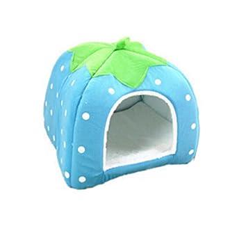 Xuxuou 1 Pieza Casas para Mascotas Interior para Perros Cama Mascota para Sofa Mantener el Calor en Invierno size 26 * 26 * 28cm (Azul S): Amazon.es: Hogar