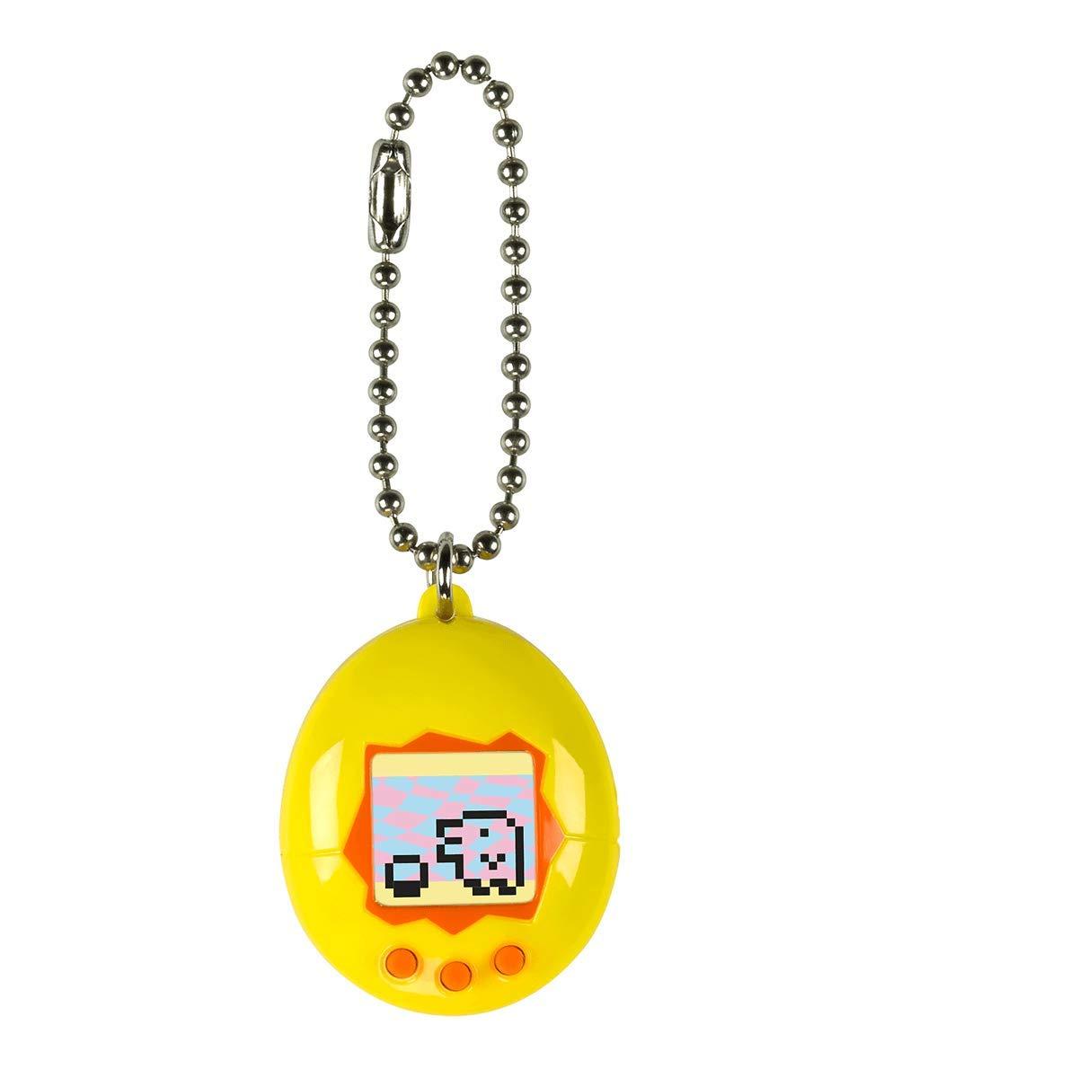 Gelb und Orange Bandai Tamagotchi Mini-Ei mit virtuellem Tier 41817