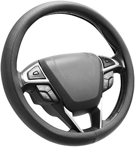 [해외]SEG 다이렉트 극세사 가죽 블랙 스티어링 휠 커버 보편적으로 15인치에 적합 / SEG 다이렉트 극세사 가죽 블랙 스티어링 휠 커버 보편적으로 15인치에 적합