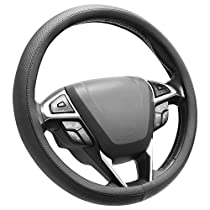 SEG Direct Microfiber Leather Blue Steering Wheel Cover Universally Fits 15 inches