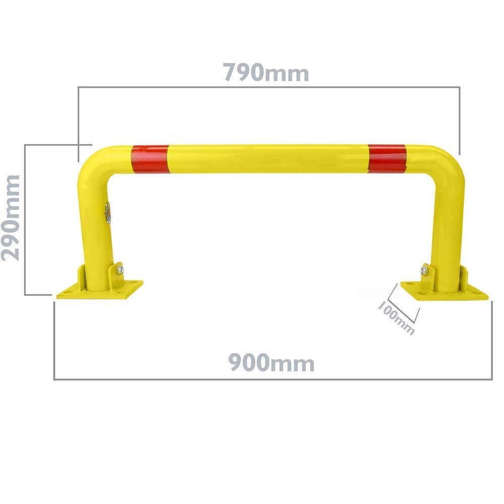 Pilona de Acero Plegable bolardo abatible con Cerradura 60x790x320mm Cablematic