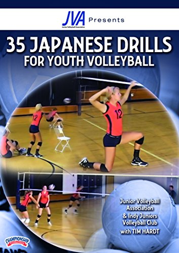 Tim Hardt: Junior Volleyball Association presents 35 Japanese Drills for Youth Volleyball (DVD) - Volleyball Coaching Dvd
