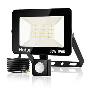 30W Foco LED con Sensor de Movimiento,Super Brillante 6000K Focos ...