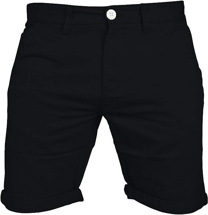 Pantalones cortos Chino, cargo, informal, 100 % algodón, para el verano