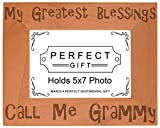 ThisWear Gift Grandma Blessings Call Me Grammy Natural Wood Engraved 5×7 Landscape Picture Frame Wood Review