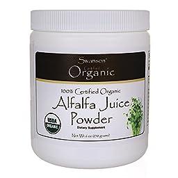 Swanson 100% Certified Organic Alfalfa Juice Pwd 6 oz (170 grams) Pwdr