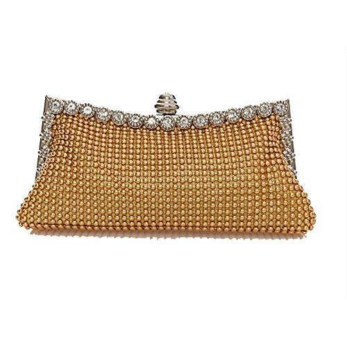 Women Clutches Purse Prom Rabbit Suitable Clutch Bag Lovely Gold Sparkling Rhinestone Gold Party Cocktail Color For Evening Crystal wOHnIq01z