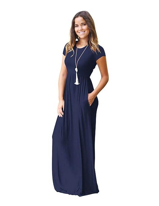 Vestido YONGYONGCHONG algodón para Mujer Falda Larga de Color ...