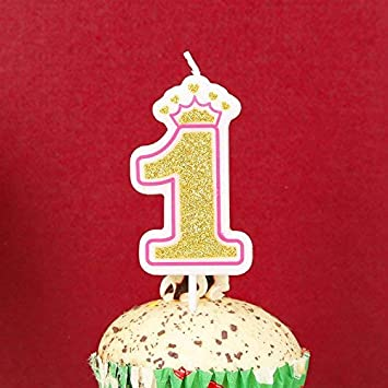Buy Lovely Biton Gold 1 Happy Birthday Candles 0 9 Molded Number For Party Time Special Day Funny Make A Wish Adults And Kids Online At Low