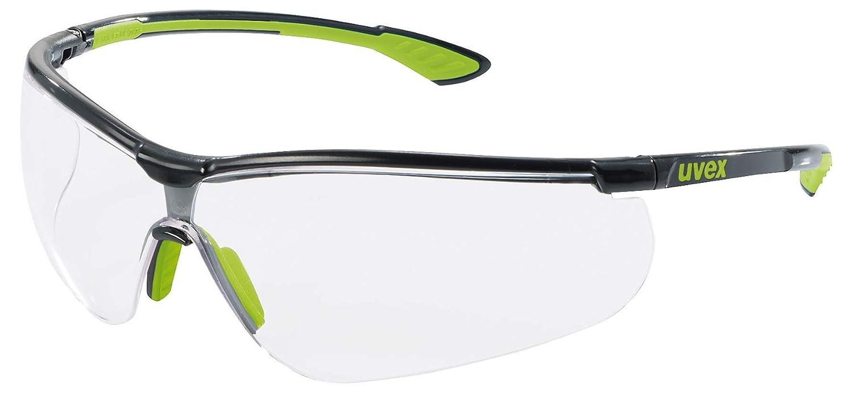 Uvex UX-OO-Style_T - Gafas protectoras, Transparente/Negro/Verde, Talla única, 1 Pieza