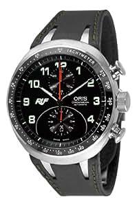 Oris Men's 67376117084LS Ruf CTR3 Chronograph Limited Edition Black Dial Watch
