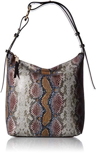 Calvin Klein Liana Python Belted Top Zip Slouchy Hobo, Multi Rainbow (Belted Handbag Hobo)