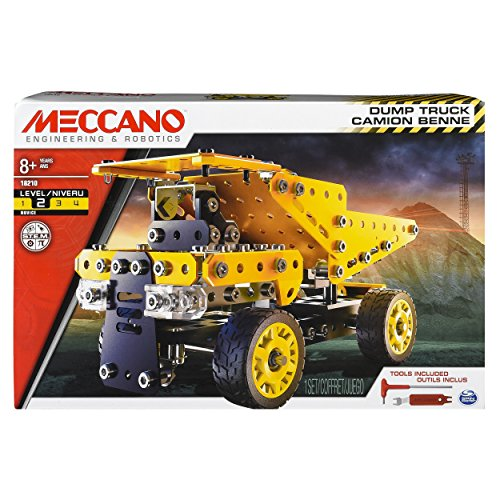 Erector by Meccano Dump Truck Model Vehicle Building Kit, STEM Education Toy for Ages 8 & Up (Truck Knex)