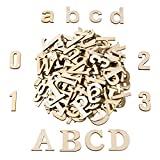 Satinior 124 Pieces Totally Wooden Capital Letter