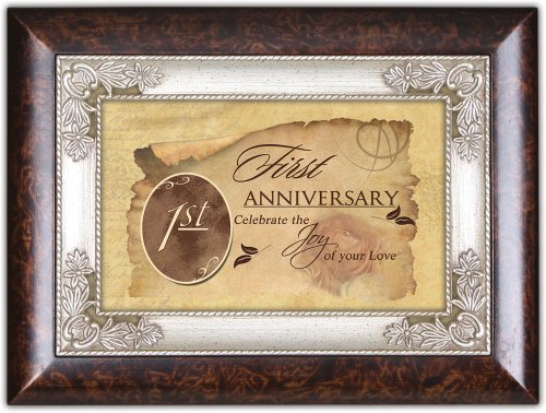 First Anniversary Cottage Garden Italian Inspired Music Box Plays Unchained Melody (1st Gift Anniversary)