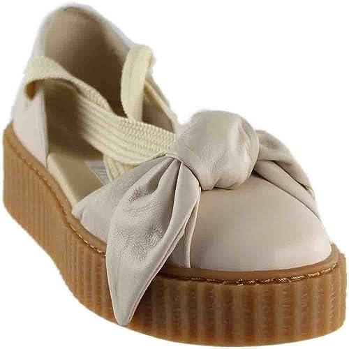 newest 9b685 a9c5f PUMA Women's FENTY x PUMA Bow Creeper Sandals, Pink Tint, 7 ...